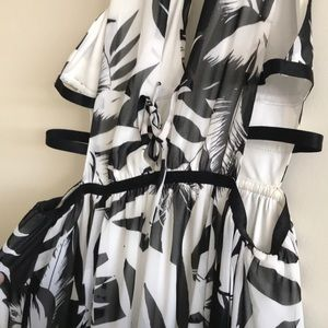 Express - Black and white long dress, worn once.